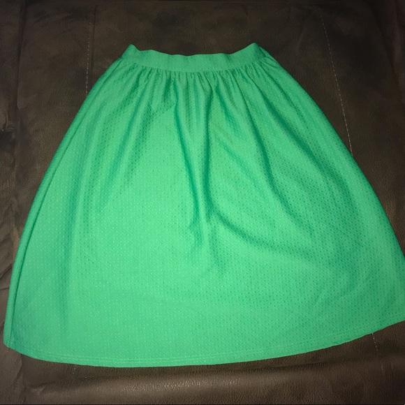 Glamorous Dresses & Skirts - Green high waist textured midi skirt